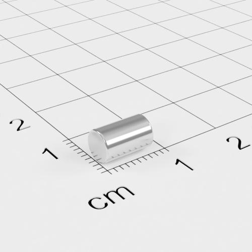Neodym Stabmagnet, 5x8mm, vernickelt, Grade N45