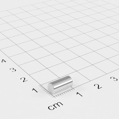 Neodym Stabmagnet, 5x10mm, vernickelt, Grade N45