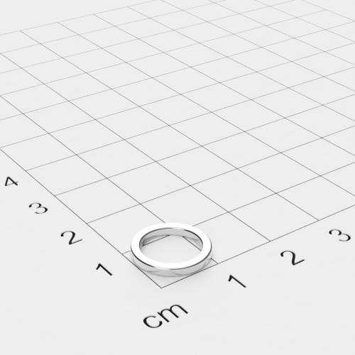 Neodym Ringmagnet, 12x1.5mm mit 9mm Bohrung, vernickelt, Grade N42