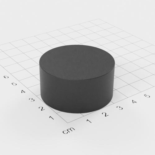 Ferrit Scheibenmagnet, 40x20mm, Grade Y30