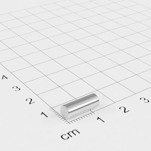 Neodym Stabmagnet, 5x13mm, vernickelt, Grade N45