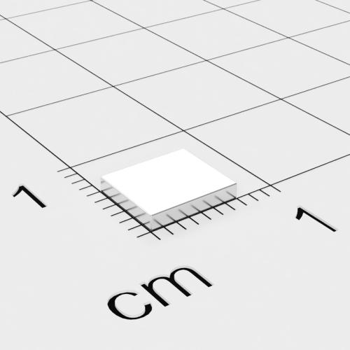 Neodym Quadermagnet, 7x6x1.2mm, vernickelt, Grade N50