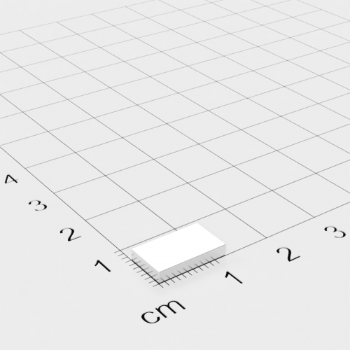 Neodym Quadermagnet, 12x7x2mm, vernickelt, Grade N45H-N