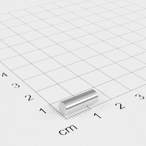 Neodym Stabmagnet, 5x14mm, vernickelt, Grade N45