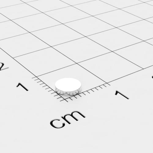 Neodym Scheibenmagnet, 5x1mm, vernickelt, Grade N45