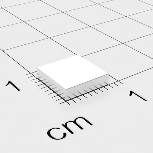 Neodym Quadermagnet, 8x8x2mm, vernickelt, Grade N52