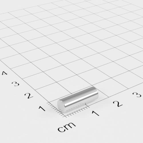 Neodym Stabmagnet, 5x15mm, vernickelt, Grade N35H