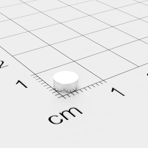 Neodym Scheibenmagnet, 5x2mm, vernickelt, Grade N52