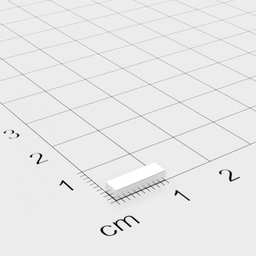 Neodym Quadermagnet, 10x3x2mm, vernickelt, Grade N44H bis 120°C