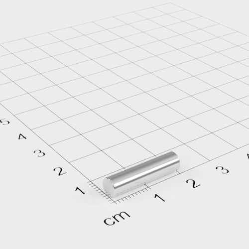 Neodym Stabmagnet, 5x20mm, vernickelt, Grade N52