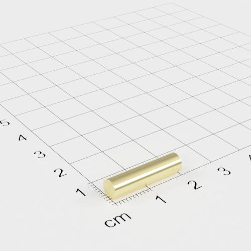 Neodym Stabmagnet, 5x20mm, vergoldet, Grade N52