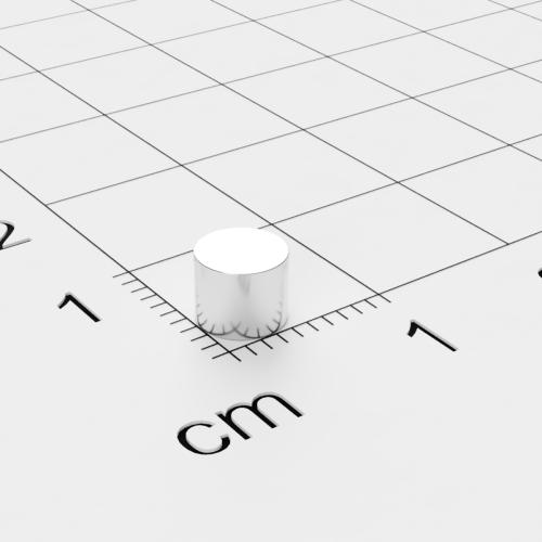 Neodym Scheibenmagnet, 5x4mm, vernickelt, Grade N45