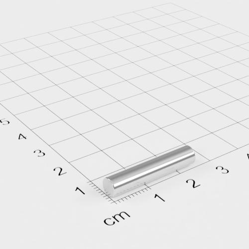 Neodym Stabmagnet, 5x25mm, vernickelt, Grade N45