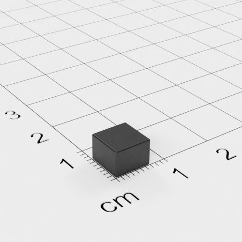 Ferrit Quadermagnet, 7x7x5mm, Grade Y30