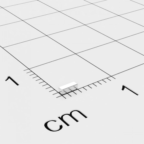 Neodym Quadermagnet 3x1x1mm, vernickelt, Grade N45