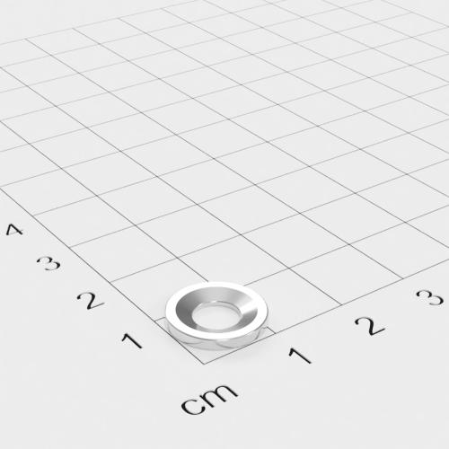 Metallscheibe 12x1,5mm mit Bohrung und Senkung - Haftgrund