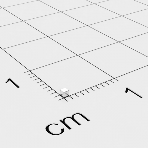 Neodym Würfelmagnet, 1x1x1mm, vernickelt, Grade N45