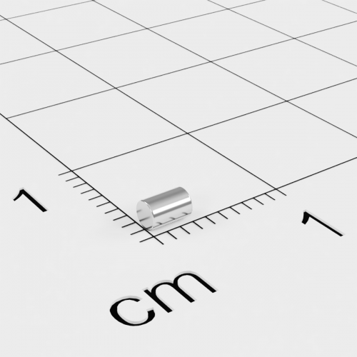 Neodym Stabmagnet, 2x3mm, vernickelt, Grade N45