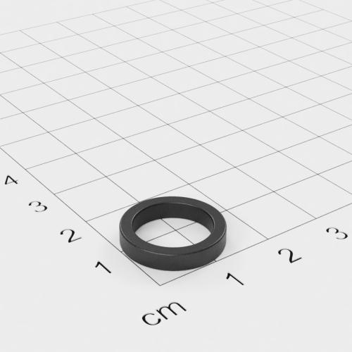 Ferrit Ringmagnet, 22x5mm mit 12mm Bohrung, Grade Y30