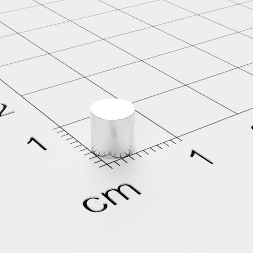 Neodym Scheibenmagnet, 5x5mm, vernickelt, Grade N45