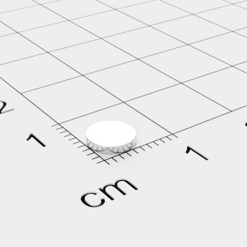 Neodym Scheibenmagnet, 6x1mm, vernickelt, Grade N52