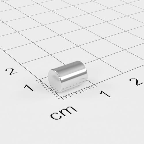 Neodym Stabmagnet, 6x8mm, vernickelt, Grade N45