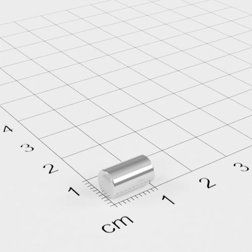 Neodym Stabmagnet, 6x10mm, vernickelt, Grade N45