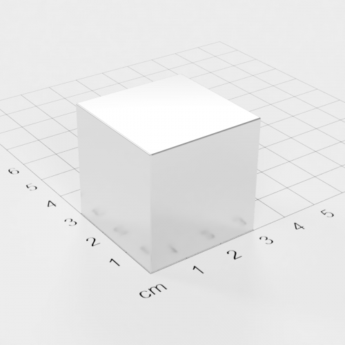 Neodym Würfelmagnet, 30x30x30mm, vernickelt, Grade N52