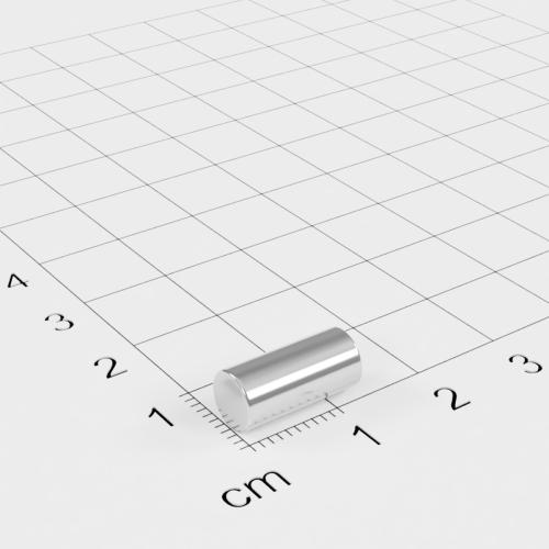 Neodym Stabmagnet, 6x13mm, vernickelt, Grade N45