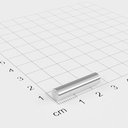 Neodym Stabmagnet, 6x25mm, vernickelt, Grade N42