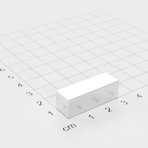 Neodym Quadermagnet, 30x10x10mm, vernickelt, Grade N45