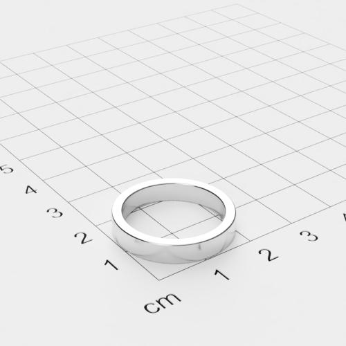 Neodym Ringmagnet, 22.5x4mm mit 18.5mm Bohrung, vernickelt, Grade N52