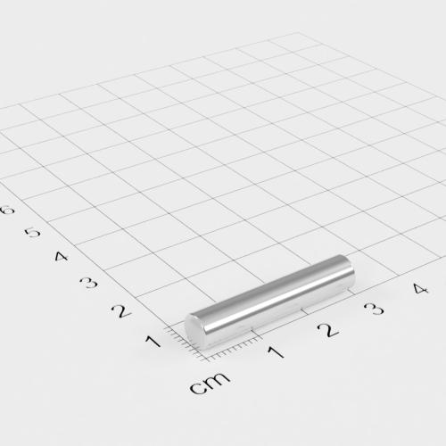 Neodym Stabmagnet, 6x30mm, vernickelt, Grade N42