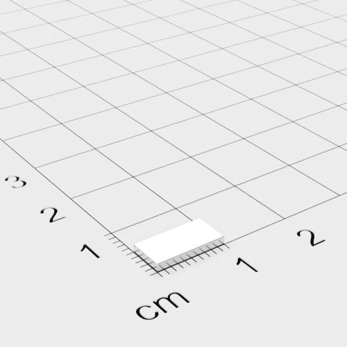 Neodym Quadermagnet, 10x5x1.2mm, vernickelt, Grade N50