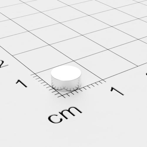 Neodym Scheibenmagnet, 6x2.5mm, vernickelt, Grade N35H, bis 120°C