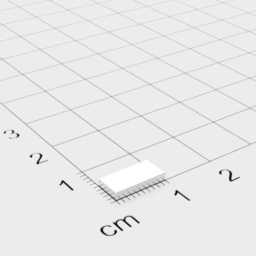 Neodym Quadermagnet, 10x5x1.5mm, vernickelt, Grade N50
