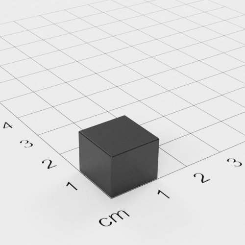 Ferrit Quadermagnet, 12x12x10mm, Grade Y30