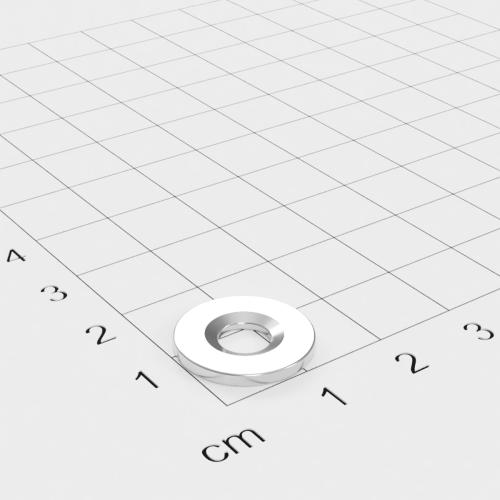 Metallscheibe 15x1,5mm mit Bohrung und Senkung - Haftgrund