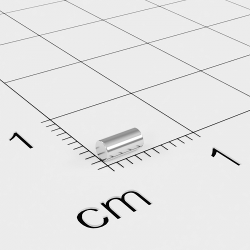 Neodym Stabmagnet, 2x4mm, vernickelt, Grade N45