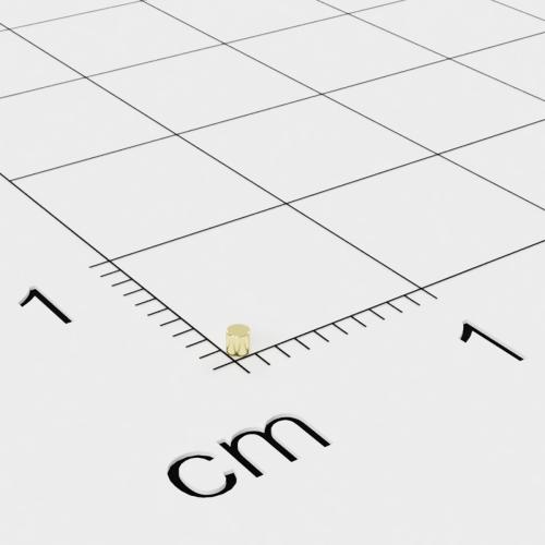Neodym Scheibenmagnet, 1x1mm, vergoldet, Grade N52