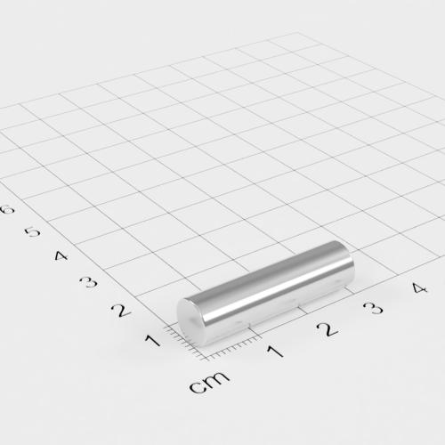 Neodym Stabmagnet, 8x30mm, vernickelt, Grade N42