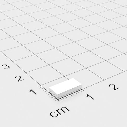 Neodym Quadermagnet 10x5x2mm, vernickelt, Grade N45