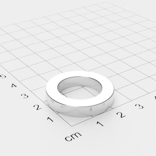 Neodym Ringmagnet, 28x5mm mit 18mm Bohrung, vernickelt, Grade N45