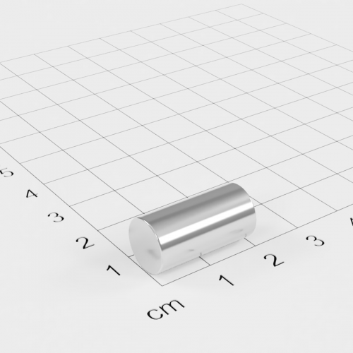 Neodym Stabmagnet, 10x20mm, vernickelt, Grade N45