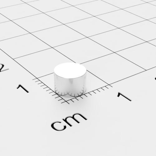Neodym Scheibenmagnet, 6x4mm, vernickelt, Grade N45