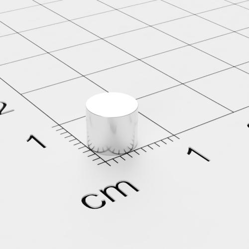 Neodym Scheibenmagnet, 6x5mm, vernickelt, Grade N45