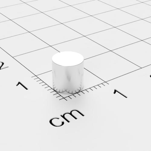 Neodym Scheibenmagnet, 6x6mm, vernickelt, Grade N48