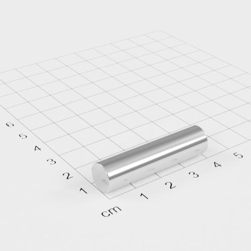 Neodym Stabmagnet, 10x40mm, vernickelt, Grade N40