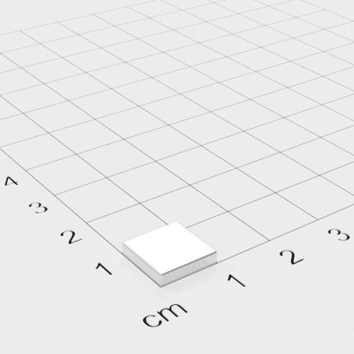 Neodym Quadermagnet 10x10x2mm, vernickelt, Grade N52