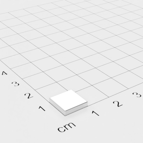 Neodym Quadermagnet 10x10x2mm, vernickelt, Grade N52SH